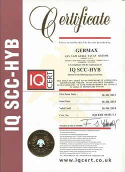 Gergi_Tavan_IQ_SSC_Belgesi