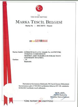 Gerrmax-Marka-Tescil-Belgesi