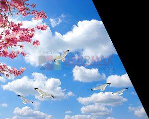 Ağaç - Gökyüzü Gergi Tavan Görselleri 125