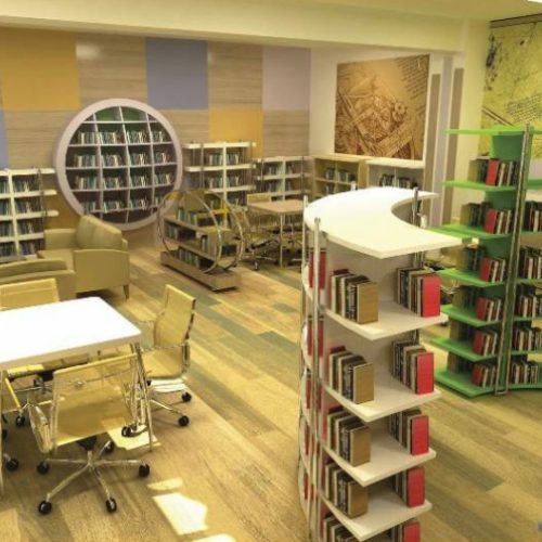 Z Kütüphane Gergi Tavan