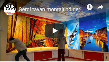 Gergi Tavan Montajı - HD Gergi Tavan Modelleri - Barisol Tavan Montajı